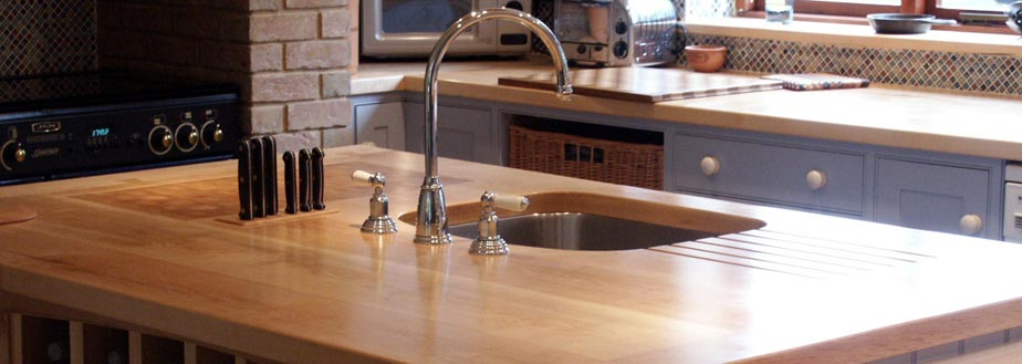 A custom handmade kitchen from Grahame R Bolton of Bungay, Suffolk width=