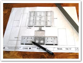 Hand drawn and designed bespoke kitchens